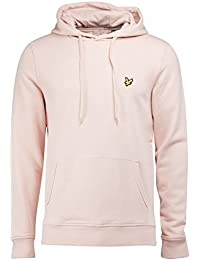 Lyle & Scott Loop-Back Cotton Pullover Hoody Pink