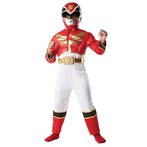 Red Power Ranger Megaforce Kinder Gr. S - M Karneval Kinderkostüm Superheld Held S