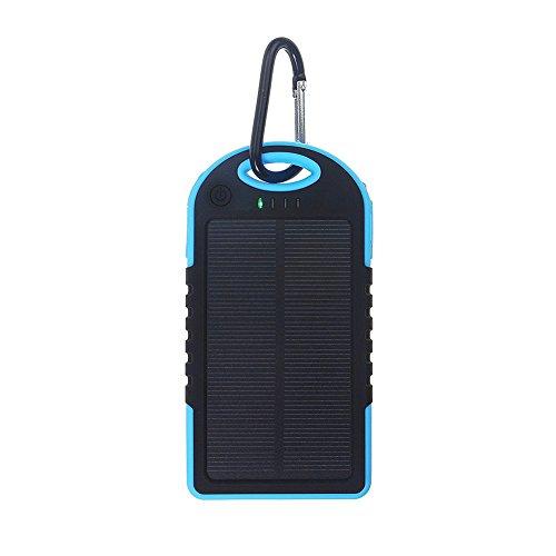 Etbotu externe Batterie Power Bank mit LED Licht Universal Solar Power Bank 5000mah High-Capacity Solar Ladegerät Dual USB Portable -
