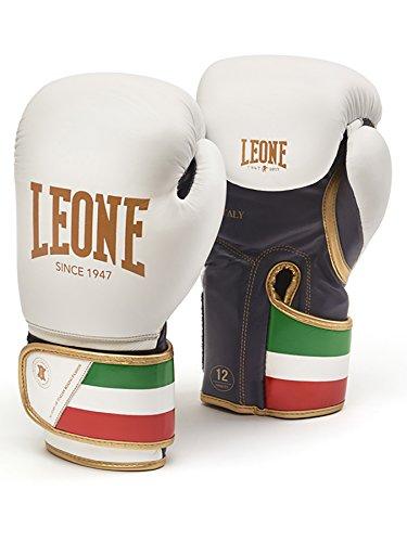 Leone 1947 GN039 Guante de Boxear, Unisex – Adulto, Blanco, 10OZ