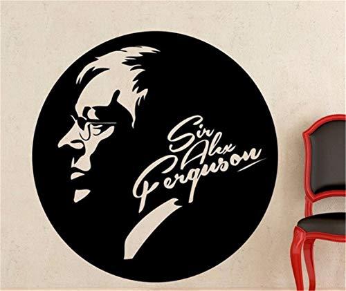 Adesivo murale peter pan sir alex ferguson, famoso allenatore di calcio, decalcomania soggiorno, arredamento sportivo, dormitorio, club bar