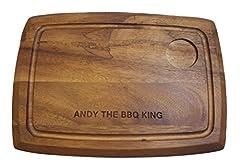 Idea Regalo - Incisione personalizzata acacia vassoio tagliere per servire Board bistecche