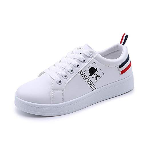 Sillor Freizeitschuhe Damen Low-Top Sneaker, Business Sneaker, Halbschuh, Bequem Einfach Einfarbig Mode Klassisch Lace-Up Strassenschuh -