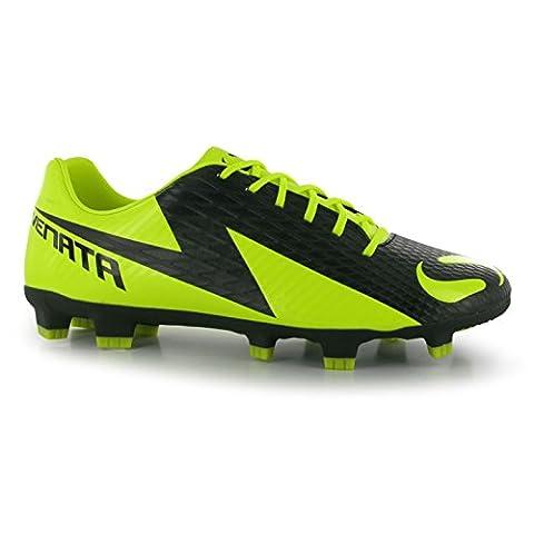 Sondico Mens Venata Fg Football Boots Trainers With Studs Sport Shoes Soccer Black/Yellow UK 11.5 (45.5)