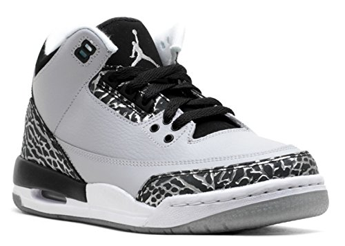 AIR JORDAN 3 RETRO BG (GS) 'WOLF GREY' - 398614-004 - SIZE 4 - Air Jordan 3 Retro