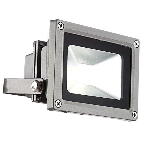 LED Garten Außenleuchte Einfahrt Beleuchtung Alu Gehäuse Industriedesign 10 Watt Strahler IP 65 Globo 34107