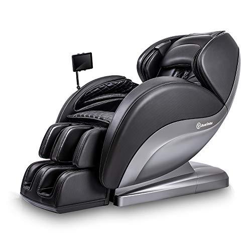 Real Relax Superior Massagesessel, 3D Shiatsu Ruhesessel mit Android-Bedienteil, SL-Track, Bodyscan, 24 Massagefunktionen, Wärmefunktion, Zero Gravity, Platzsparender und Bluetooth(Schwarz)