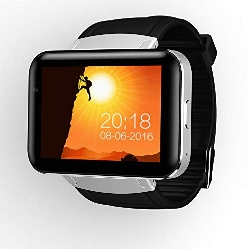 FensAide Android Smart Watch with Big Touch Screen Quad Core GPS WiFi 3G Camera SIM Card Anti-Lost Support Video Call Fitness Watch Mobile Phone for Man/Women 3g Mobile Video Support