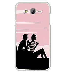 Boy and a Girl 2D Hard Polycarbonate Designer Back Case Cover for Samsung Galaxy J5 (2015 Old Model) :: Samsung Galaxy J5 Duos :: Samsung Galaxy J5 J500F :: Samsung Galaxy J5 J500FN J500G J500Y J500M
