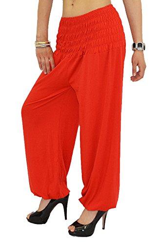 Pantalon Sarouel pour Femme Pantalon Pump Femme Pantalons Harem pour Dames Pantalon de Yoga S01 Rouge