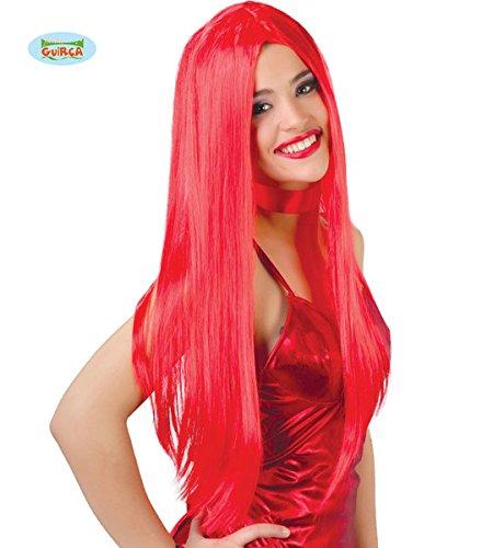 Guirca fiestas gui4174-Rosso Lungo Parrucca