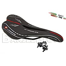 Sella MONTEGRAPPA LIBERTY MAX ANTIPROSTATA Nero Bici Fixed - Scatto - Corsa - MTB + Morsetto