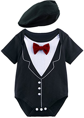 en Gentleman Body mit Hut (Rot, 3-6 Monate) (Rot Body Kostüm)