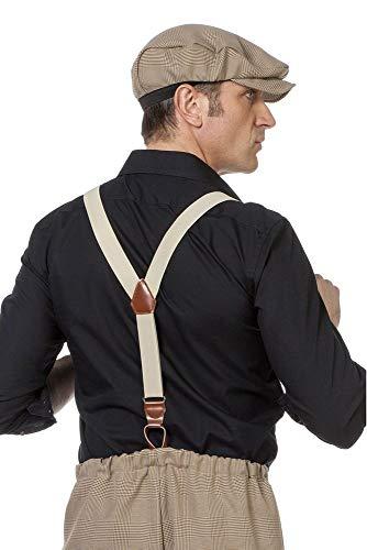 shoperama Gentleman Retro Hosenträger mit Schlaufen Y-Form Kostüm-Zubehör 20er 30er 40er 50er Jahre - 50 Kostüm Für Herren
