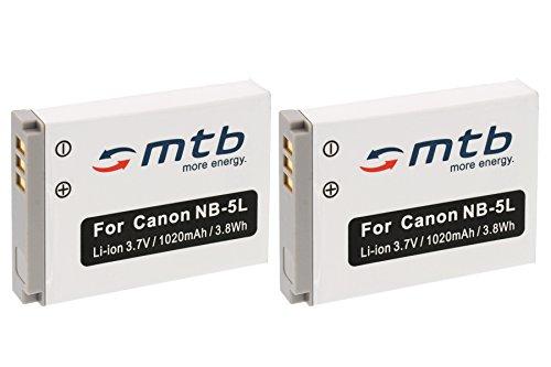 2x Akku NB-5L für Canon PowerShot SX200 IS, SX210 IS, SX220 HS, SX230 HS...siehe Liste! Sd950 Digital Ixus Kameras