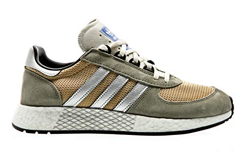 adidas Originals Marathon Tech, Trace Cargo-Silver metallic-raw Sand, 10