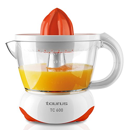 Taurus TC 600 Exprimidor 40 W 0.7 litros, 0 Decibeles, PU, Naranja, Blanco