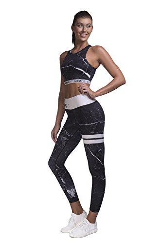 Nessfit - Legging de sport - Femme Black Marble - Leggings