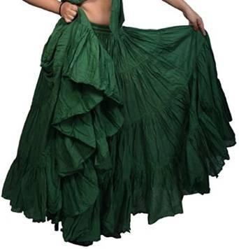 25Yard Baumwolle Röcke ATS Dancing Rock Bauchtanz Plus Gr. 39/101,6cm lang, violett, 39/40 (Kostüm Party Großbritannien Rock)