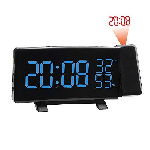 Reloj despertador multifuncional LED Reloj de proyección electrónica digital Radio FM