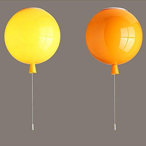 Farbe Ballon Deckenleuchte,Modern Kinderzimmer Deckenlampe,LED Deckenleuchte,Schlafzimmerlampe,Flur Küche Esszimmer Leuchte D20cm 5 Farbvarianten , Orange (Anzahl 100 Ballon)