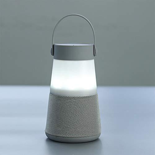 LED Nachtlampe Bluetooth Lautsprecher Tragbares mit drahtlosem Laterne und Touch Fernbedienung Freisprechen TF SD Karte USB Aufladung für Outdoor Camping Erwachsene und Kinder - Fernbedienung Laterne
