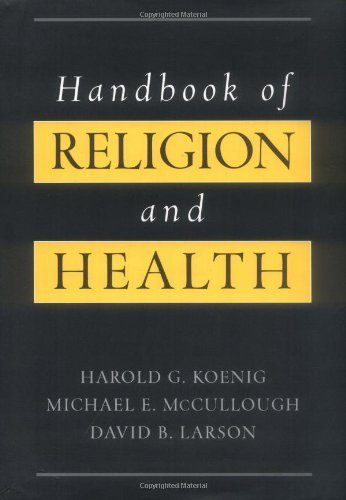Handbook of Religion and Health by Harold G. Koenig (2001-01-11)
