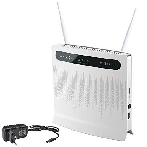 netshop 25 Deutsche Telekom Speedport LTE II - Wireless Router - LTE bis 100 Mbit/s - Simlockfrei - Inkl. 2 Stück Stabantenne mit jeweils 3 dBi