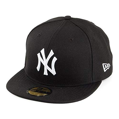 New Era Erwachsene Baseball Cap Mütze MLB Basic NY Yankees 59 Fifty Fitted, Black, 7 1/4
