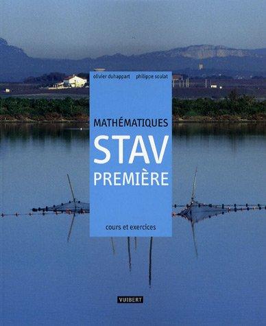 Mathématiques 1e STAV : Cours et exercices résolus
