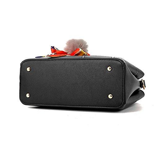 Ruiren Womens Shopper Shoulder Bag Packet Messenger Bag Ladies Handbag Borsa Femminile Borgogna