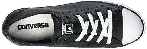 Converse - Dainty Leath Ox, Sneaker basse Donna Schwarz
