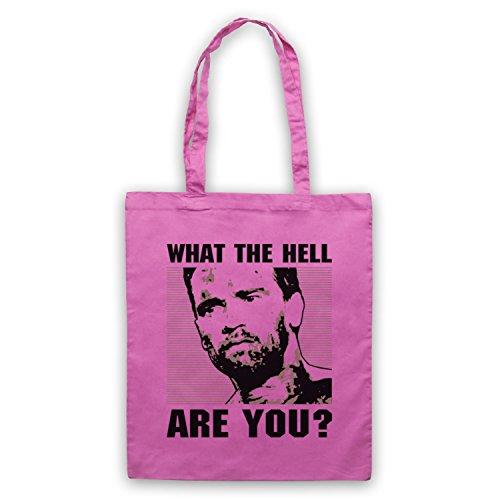 Inspiriert durch Predator Arnie Dutch What The Hell Are You Inoffiziell Umhangetaschen Rosa