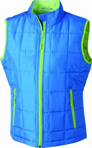 &james nicholson veste sans manches matelassée légère Bleu (aqua/limegreen)