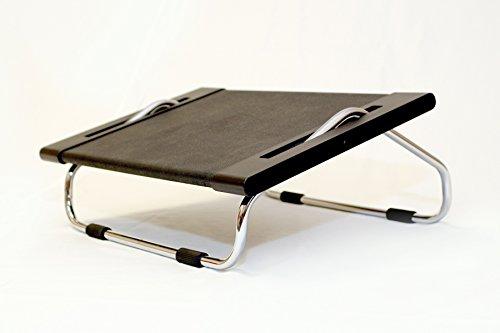 Jobri Hocker Fußauflage, verstellbar, Schwarz/Chrom, 15,2 cm - Chrom Verstellbare Hocker