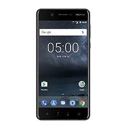 Nokia 5 Smartphone (13,2 cm (5,2 Zoll), 16GB, 13 Megapixel Kamera, Android 7.0, Single Sim) satin-schwarz, version 2017