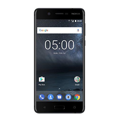 Nokia 5 SINGLE SIM Smartphone (13,2 cm (5,2 Zoll), 16GB, 13 Megapixel Kamera, Android 7.0) satin-schwarz