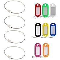 4pcs Stahl Verriegelungsschraube Wire Kabel Keychain Schluesselanhaenger Aussen Zubehoer