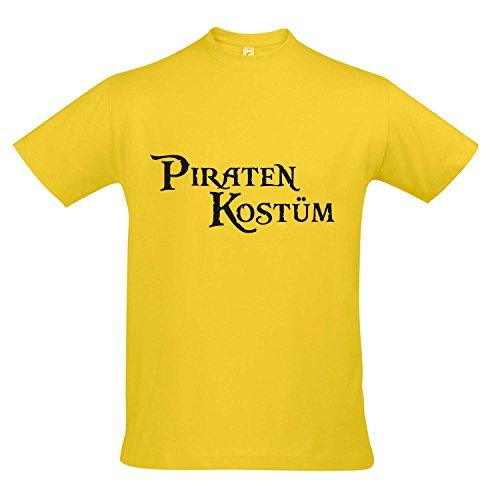 T-Shirt - PIRATENKOSTÜM FASCHING, KARNEVAL, PARTY SHIRT S-XXL , Gold - schwarz , - Gold Und Schwarz Piratenkostüm