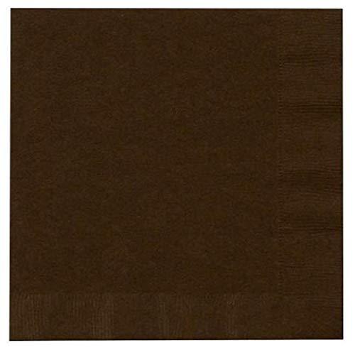 Thali Outlet Leeds Tischdeckchen 125 x Chocolate Braun, 2-lagig, 33 cm, 4-Falz Servietten Tissue Servietten für Geburtstage, Hochzeiten, Partys, alle Anlässe