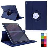 COOVY® Cover für Huawei Mediapad M3 Lite 10 Rotation 360° Smart Hülle Tasche Etui Case Schutz Ständer | Farbe dunkelblau