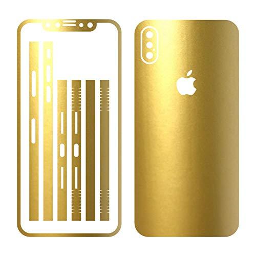 Leuchtkäfer Werbetechnik iPhone X Gold METALLIC MATT Folie Skin ZUM AUFKLEBEN Bumper case Cover schutzhülle i Phone
