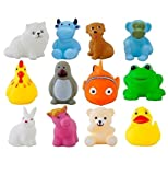 #7: Arihant Impex 12 Pcs/Lot Mixed Different Animal Bath Toys
