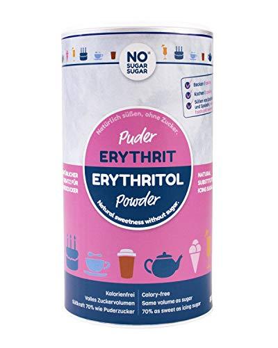 NO SUGAR SUGAR | Erythrit Puder (800g Dose) Puderzuckerersatz kalorienfrei