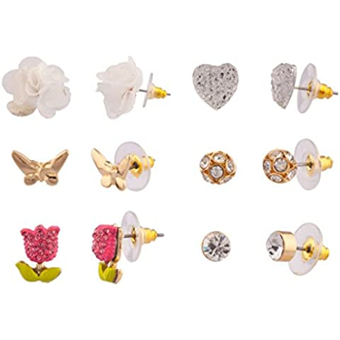 Lux accessori, con motivo floreale e farfalla,