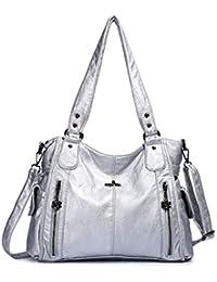 1eccf21cd7 DEERWORD Women s Top-Handle Bags Handbags Hobos Shoulder Bags PU Leather  Birkin Convertible