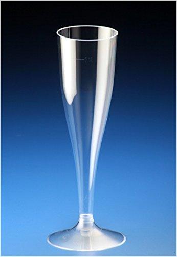 40x Sektgläser 100ml Sektkelche Einweg Sektglas / stabile Premiumqualität aus deutscher Herstellung / 2 Teilig