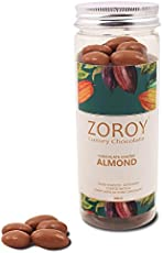 Zoroy Luxury Chocolate Roasted Almond Dipped in Pure Belgian Chocolate -100Gms