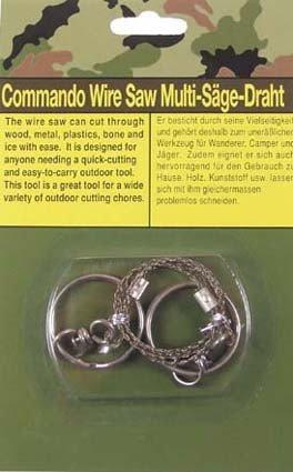 MFH Draht-Säge, mit Ringen, extra stabile Ausführung