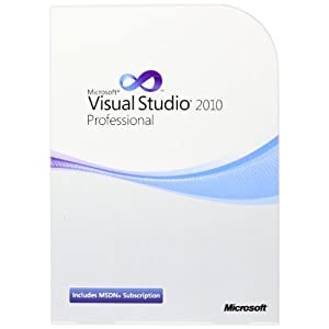 41azXxOW PL. SS300  - Visual Studio Pro w/MSDN Retail 2010/Englisch Programs Not to Latam DVD